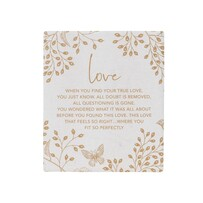Full Bloom - Love Plaque