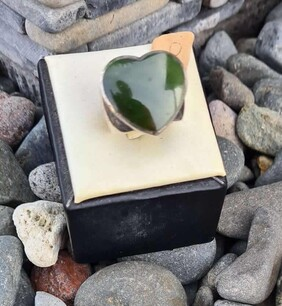 Sterling Silver Heart Pounamu Ring
