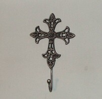 Black/Silver Rub Cross