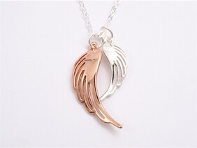 Necklace - Double Angel Wings