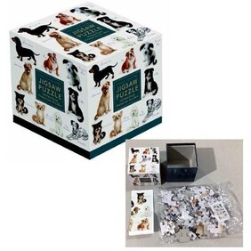 100pc Cube Jigsaw - Dogs