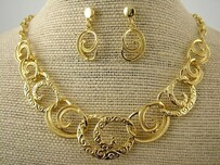 Necklace - Gold Koru Set