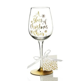 Wine Glass - Christmas Cheer