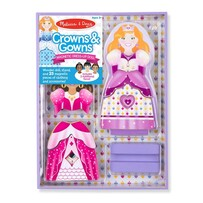 Melissa and Doug - Crowns & Gowns Magnetic Dressup
