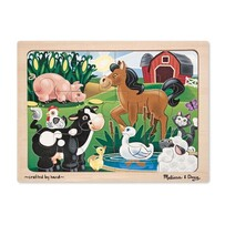 Melissa & Doug - On The Farm Wooden Puzzle