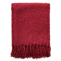 Throw - Acrylic Boucle - Port Red