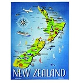 Tea Towel - NZ Map