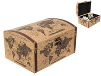 World Map Treasure Box
