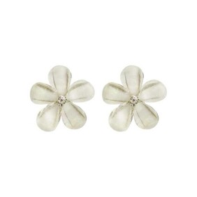 Earrings - Daisy Bling White
