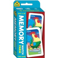 SchoolZone Card Game - Memory Match Farm
