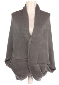 Dual Use Shrug and Scarf - Grey