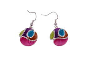 Earrings - Colourful Ribbon