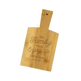 Snack Chopping Board - Family Rules