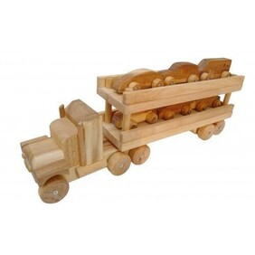 Solid Wood Car Transport Truck