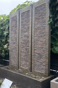 3 Slate Pillar Wall Water Feature