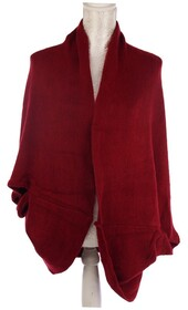 Dual Use Shrug and Scarf - Wine