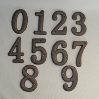 Cast Iron House Number  / 0