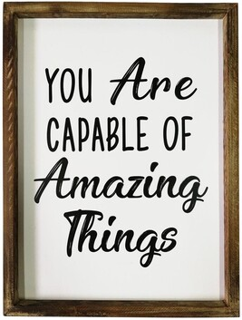 You Are Capable Wall Art 30x40cm
