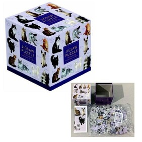 100pc Cube Jigsaw - Cats