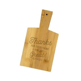 Snack Chopping Board - Thanks For Everything