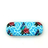 Leather NZ Print Glasses Case - Nest - Angie Dennis