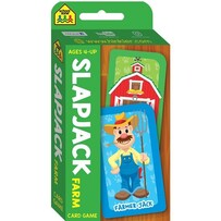 SchoolZone Card Game - Slap Jack Farm