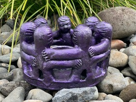 Pottery Circle of Friends 25cm / Purple