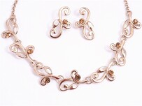 Necklace - Rose Gold Fern Vine Set