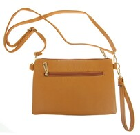 Handbag - Plain Shoulder Bag Mustard