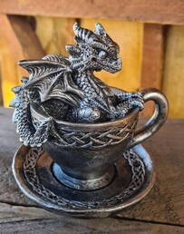 Dragon in a Teacup Figurine