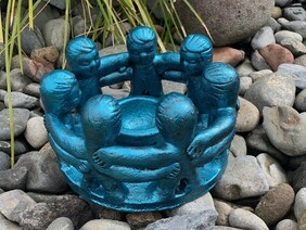 Pottery Circle of Friends 25cm / Turquoise