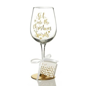 Wine Glass - Christmas Spirit