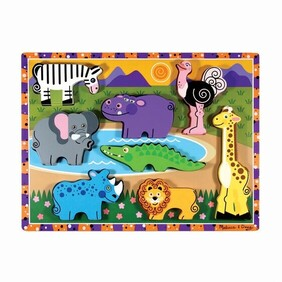 Melissa & Doug - Chunky Puzzle Safari Animals